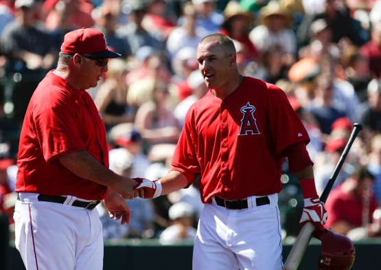 Mike Trout, Mike Scioscia